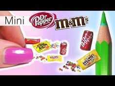 Miniature M&M's & Soda Can Tutorial // DIY Dolls/Dollhouse - YouTube