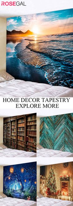 Rosegal wall tapestry cool style home area rug ideas diy fun while staying at home Winter Home Decor, Winter House, Wedding Decorations On A Budget, A Frame House, Sea Glass Art, Rooms Home Decor, Fantasy Inspiration, Aesthetic Rooms, Bath Rugs