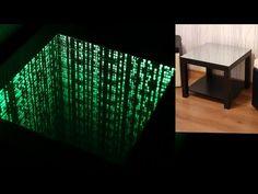 Wow!!! The Matrix infinity mirror effect . amazing .столик с подсветкой бесконечное зеркало . - YouTube Emergency Exit Signs, Infinity Mirror, Mirror Effect, Amazing, Youtube, Instagram, Youtubers, Youtube Movies