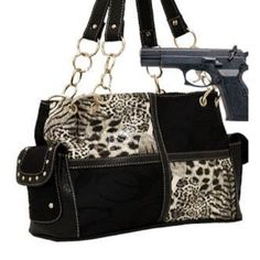 Cleto Black Animal Print Signature Conceal and Carry Purse : Fall Collection