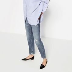 Image 1 of POINTED BALLET FLATS WITH BUCKLE from Zara
