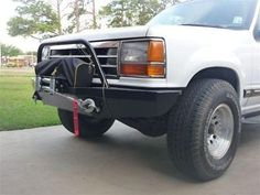 Custom Winch Bumper for First Generation Ford Explorers 91-94, Rangers with the same front end 89-92 and 89-90 Bronco II vehicles. 3/16 Plate construction with