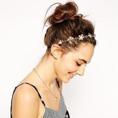 Lady's Fashion Metal Head Chain Hair Jewelry Headpiece Pearl Floret Flower Elastic Hair Band Headband *** Visit the image link more details. (Amazon affiliate link)