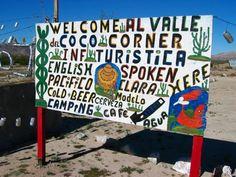 Coco's Corner Sign in Baja California