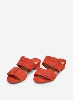 Sandal med knyt Shiny Silver