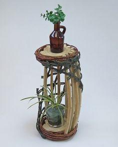 流木アートインテリア 花台 A0563 33.7cm  レア一点もの 流木アートのアトリエ 【 SALON1170 】