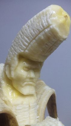 A square jawed banana that anyone would be proud of.