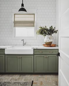 Mid Century Decor, Mid Century Design, Laundry Room Lighting, Modern Farmhouse Lighting, Green Cabinets, Commercial Lighting, House Built, Green Kitchen, Interior Design Studio