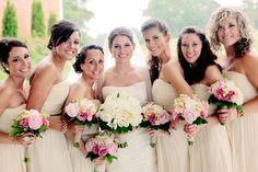 Nude & Blush bridesmaids dresses!