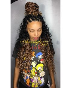 How To Do Bohemian Locs In 2019 Braided Hairstyles Hair