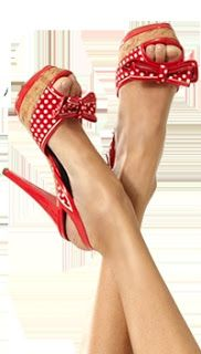 High heels influence everyone affection for fashion and style .  Have a look at our polka dot pumps with platforms! Follow Tipsy Toes @ashersocrates