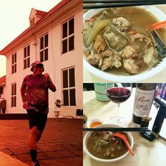#running for #ginseng soup, #wine and #cigar