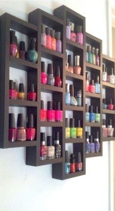 Use a wall unit for nail polish!