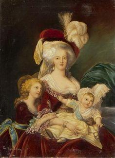 vivelareine: Um retrato de Maria Antonieta e seus filhos, após uma pintura por Elisabeth fonte Vigee-Lebrun: MutualArt.com