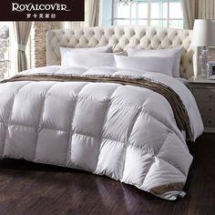 罗卡芙家纺 床上用品保暖羽绒被芯摩纳哥保暖95%白鹅绒被冬被-tmall.com天猫