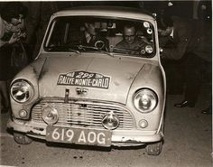619 AOG .. Factory 850 Mini , 1960 Monte Carlo rally , driven by T.Wisdom / J.Hay , finished 55th o/a .