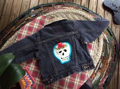 A personal favorite from my Etsy shop https://www.etsy.com/listing/192324095/biker-baby-skull-jacket