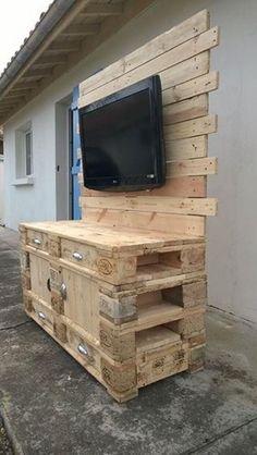 Most popular wooden pallet projects decor ideas Related Wooden Pallet Projects, Wooden Pallet Furniture, Wooden Pallets, Pallet Ideas, Pallet Designs, Rack Pallet, Pallet Tv, Pallet Tables, Construction Palette