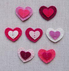 Valentines Heart Barrettes