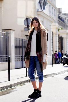 blue pants   #fashion #streetstyle   http://lkl.st/1nGO7rd   See more on https://www.lookli.st #Looklist