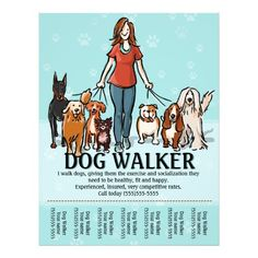 Dog Walking. Dog Walker. Tearsheet