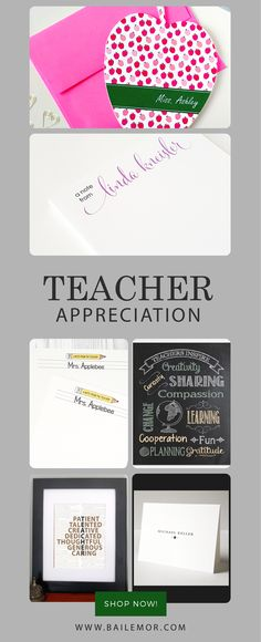 Love these personalized teacher gifts!