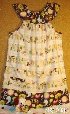 To Sew With Love: Summer Pillowcase-Styled Dress With Ruffled Neckline Tutorial