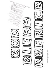 Never forget God bless America coloring page or digital