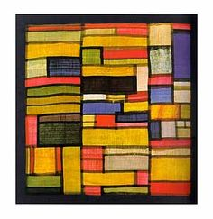 Even before Mondrian, we had the pattern in life in old Korea. The scarf-like   bag called Bojagi.
