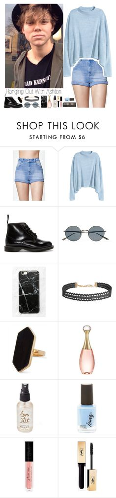 """""""Hanging Out With Ashton Irwin"""" by kwiatekmarek ❤ liked on Polyvore featuring Kendall + Kylie, H&M, Dr. Martens, Oliver Peoples, Casetify, Humble Chic, Jaeger, Christian Dior, Olivine and Yves Saint Laurent"""