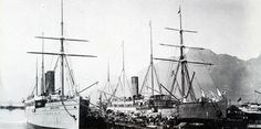 Union Castle Liners in the Cape Town Docks   Flickr - Photo Sharing!