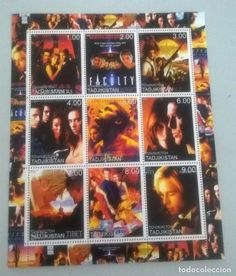 HOLLYWOOD,MOVIES,ACTORS on SOUVENIR STAMPS