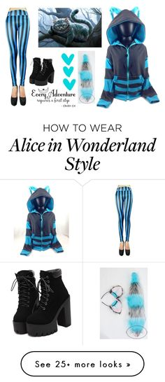 """Cheshire Cat"" by ghosthearteddanger on Polyvore featuring Blue, cat, cheshire and chesshirecat"