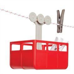 Wäscheklammer-Aufbewahrung Cabina MONKEYBUSINESS Wäscheständer Wäscheschnur Rot