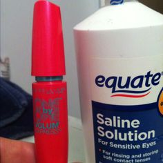 MAKE MASCARA LAST 3X LONGER!! A typical mascara dries out before half of it is used.  When your favorite mascara starts getting dry, add 4-5 drops of saline solution or eyedrops to the bottle. Insert your wand and stir and TA-DA!!  Fresh mascara! This can be repeated 2 or 3 times until all you mascara is gone. I'll have to try this.