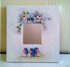 Picture Frame Crafts, Painted Picture Frames, Decoupage Ideas, Decoupage Vintage, Diy And Crafts, Arts And Crafts, Paper Crafts, Tole Painting, Painting Frames