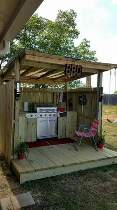 outdoor bbq area grill station * outdoor bbq area + outdoor bbq area on a budget + outdoor bbq area diy + outdoor bbq area australia + outdoor bbq area grill station + outdoor bbq area ideas + outdoor bbq area modern + outdoor bbq area diy how to build Outdoor Cooking Area, Outdoor Kitchen Bars, Backyard Kitchen, Outdoor Kitchen Design, Fire Pit Backyard, Backyard Patio, Outdoor Grill Area, Patio Grill, Outdoor Bars