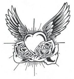 Classic Heart With Wings Tattoo Tattoo Design Free Tattoo Designs, Wing Tattoo Designs, Tattoo Free, Remembrance Tattoos, Memorial Tattoos, Body Art Tattoos, Tattoo Drawings, Heart Tattoos, Flower Tattoos