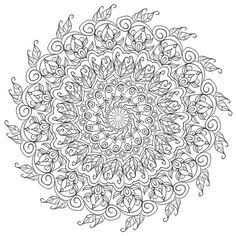 ԑ̮̑♦̮̑ɜ~Mandala para Colorear~ԑ̮̑♦̮̑ɜ Krita Mandala 5 by WelshPixie on DeviantArt Mandalas Painting, Mandalas Drawing, Mandala Coloring Pages, Coloring Book Pages, Colorful Drawings, Colorful Pictures, Mandala Design, Mandala Art, Free Adult Coloring