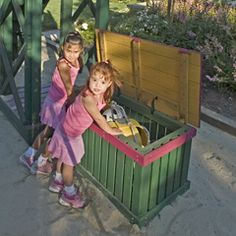 Toybox for outside of playhouse