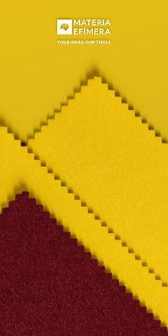 Combinación de moqueta ferial color burdeos con amarillo para stands, ferias, congresos y eventos. #Your