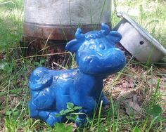 once in a blue moo Blue Moo, Garden Sculpture, Christmas Ornaments, Holiday Decor, Outdoor Decor, Home Decor, Decoration Home, Room Decor, Christmas Jewelry