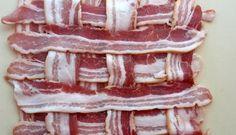 Bacon Weave: Weaving streaky bacon strips into a bacon weave Sushi Mat, Bacon Weave, Weaving, Breakfast, Recipes, Food, Closure Weave, Recipies