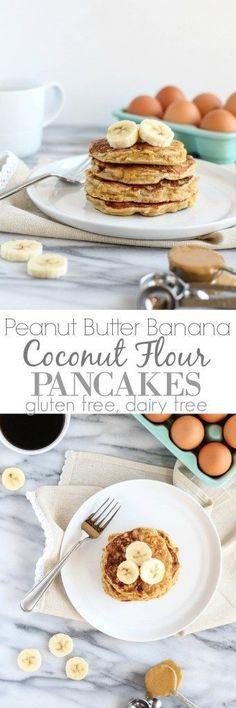 Peanut Butter Banana Coconut Flour Pancakes - pumpkinandpeanutbutter
