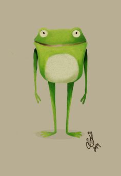 friendly froggie by Aima Shah Frosch Illustration, Character Illustration, Book Illustration, Frog Drawing, Frog Pictures, Frog Art, Little Doodles, Cute Frogs, Mascot Design
