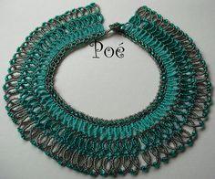 Poé gyöngyei - Éva Pálné - Picasa Web Albümleri Zulu, Creative Art, Turquoise Necklace, Crochet Earrings, Beaded Necklaces, Statement Necklaces, Crafts, Mosaics, Jewelry