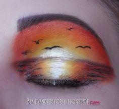 Sunset Eye Makeup Art