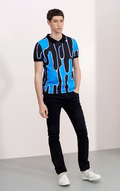 """Abstract Cactus"" Polo for Men Kenzo 