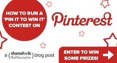 #Tips - Pinterest Promotions: Pin It To Win IT