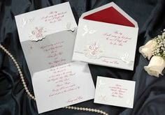 Everything to Me in Claret - Personalized Wedding Invitations